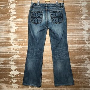 Tory Burch Classic Tory Boot Jeans Size 27